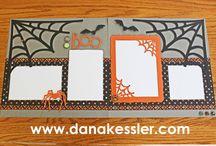 Halloween layouts