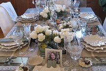 ~Tablescapes~ / Table Settings / by Lynn Williams