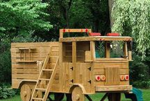 Fire engine playhouse