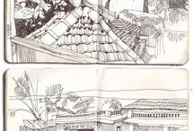 Pen watercolor sketch / by Nurvitria Mumpuniarti