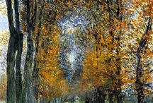 Colours of Autumn / All about art and autumn - the best autumn pastel paintings and more!