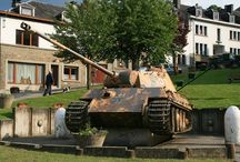 Battle of the Bulge Tank Monuments / Today we still can find many monuments of the Ardennes Counteroffensive, many of these monuments are tanks and gun motor carriages. They were left behind after the Battle of the Bulge. http://www.bulge1944.com/content/tank-monuments-ardennes