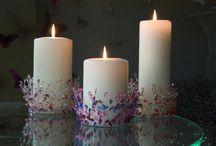 svíčky, svícny