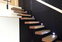 Escalier suspendu pour mezzanine