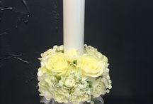 Christening candle decor