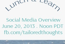 Training: Social Overview / These are graphics prepared as a precursor for my live online training session about socialmedia that was held on my Facebook page. Date: 6/20/13. This was on my Tailored Thoughts page, which I no longer use. I use my 2moroDocs page in Facebook.