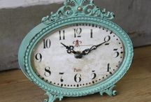 Clocks in Teal mint turquoise