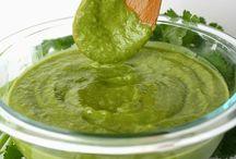 Food-Sauces, Dips, Marinades, Dressings & Pesto / by Pam Douglass