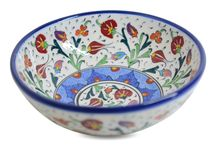 Ceramicas / Tacita en cerámica natural hecha y pintada a mano para mesa o decoración