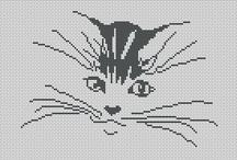 Cross - stitch - Cats / Cat patterns for cross stitching