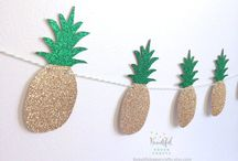 Garlands / Garland are an easy way to decor almost anything!  Check out the pins to find what suits your party better.   How to make your garland dreams come true   -Inspirations to make your own. -Shops if you are on the go and don't have time for DIY.  Collection by www.chefzoerodz.com