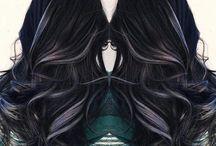 vlasy čierna+sedy melír