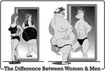 Men and women are different / Men vs women