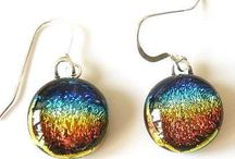 Dichroic Glass Jewellery / Working with glass is effectively working with light itself and add to that the metallic two colours that dichroic glass give you and the possibilities are endlessly beautiful