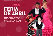 Disfraces y accesorios para la Feria de Abril / Nos encantan los trajes andaluces, y por eso queremos hacerles honor con nuestros disfraces de sevillana y de cordobés y sus accesorios #FeriadeAbril