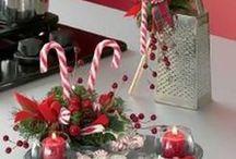 Christmas floral arrangements