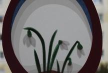 Frühlingsbasteleien mit Kindern / Frühlingsbasteleien
