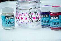 Glasmalfarbe transparent / DEKA-Cristal Glasmalfarbe auf Wasserbasis