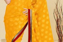 Beautiful Sarees / A tribute to colour, beauty and elegance.  There are many very beautiful sarees in this collection.  Feel free to explore and pin as many as you would like. / by Lesley McGibbon