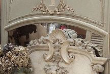 French Antique Trumeau Mirrors