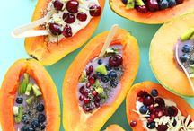 Papaya-ya-yaaaas Queen / Papayas offer not only the luscious taste and sunlit color of the tropics, but are rich sources of antioxidant nutrients such as carotenes, vitamin C!