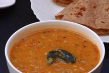 dal, pappu , rasam and sambhar