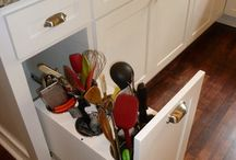a kitchen storage and organization
