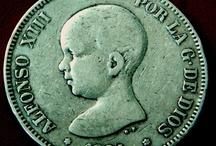 Old Spain Coins Старая Италия монеты