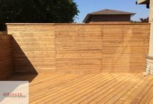 Deck with Horizontal Privacy Screen