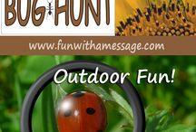 Fun Activities for Kids / Ideas for preschoolers and elementary school kids.  Outdoor Activities & Homeschooling ideas for learning.