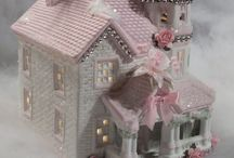 Glitter houses novelty