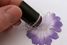 How to make your own flowers using your flower stamps