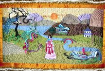 Art Quilts with Machine Embroidery / #ArtQuilts   #EmbroideredArtQuilts