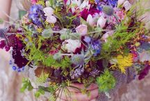 Jennifer and David / August 2014 - Very rustic, pretty, just picked and meadowy.