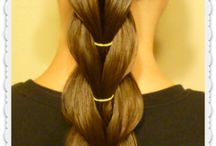 Simple hairstyles for lazy mom.