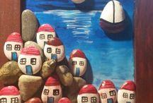 tas boyama / stone art (painted rock)