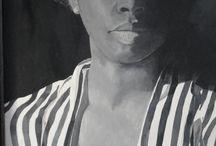 zwart/wit portret van Myrtha