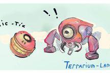 """Terrarium-land""  Comics. / Comics about ""Terrarium-land"". Cybozoorg ""bittle"" and bomb, #Terrarium_land,#unity3d,#indie"