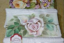 pinturas em toalhas