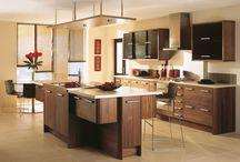 Gold kitchen range