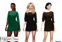 ts4 cc Women sukienki