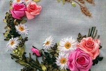 Haft ribbon embroidery