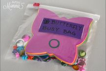 KIDS Busy Bags / Busy bags, bins and boxes to keep kids busy at home and on the go.