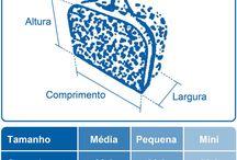 Tabelas de medidas de maletas