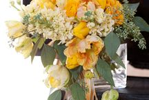yellow and grey ribbon / by lillie's flowers for weddings and celebrations