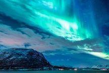 Aurora borealis and Iceland
