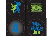 Hip Hop Birthday Inspiration / Hip Hop Party Printables by Itsy Belle Treats Favors Dessert