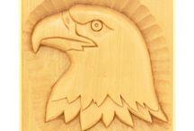 Bird Relief Carving