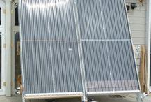 Solar furnace air heater