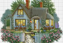 Cross stitch home